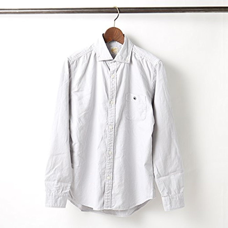 多数のドック洗うバーンズ アウトフィッターズ BARNS OUTFITTERS 新定番 オックスフォード ボタンダウンシャツ (0(S), GREY)
