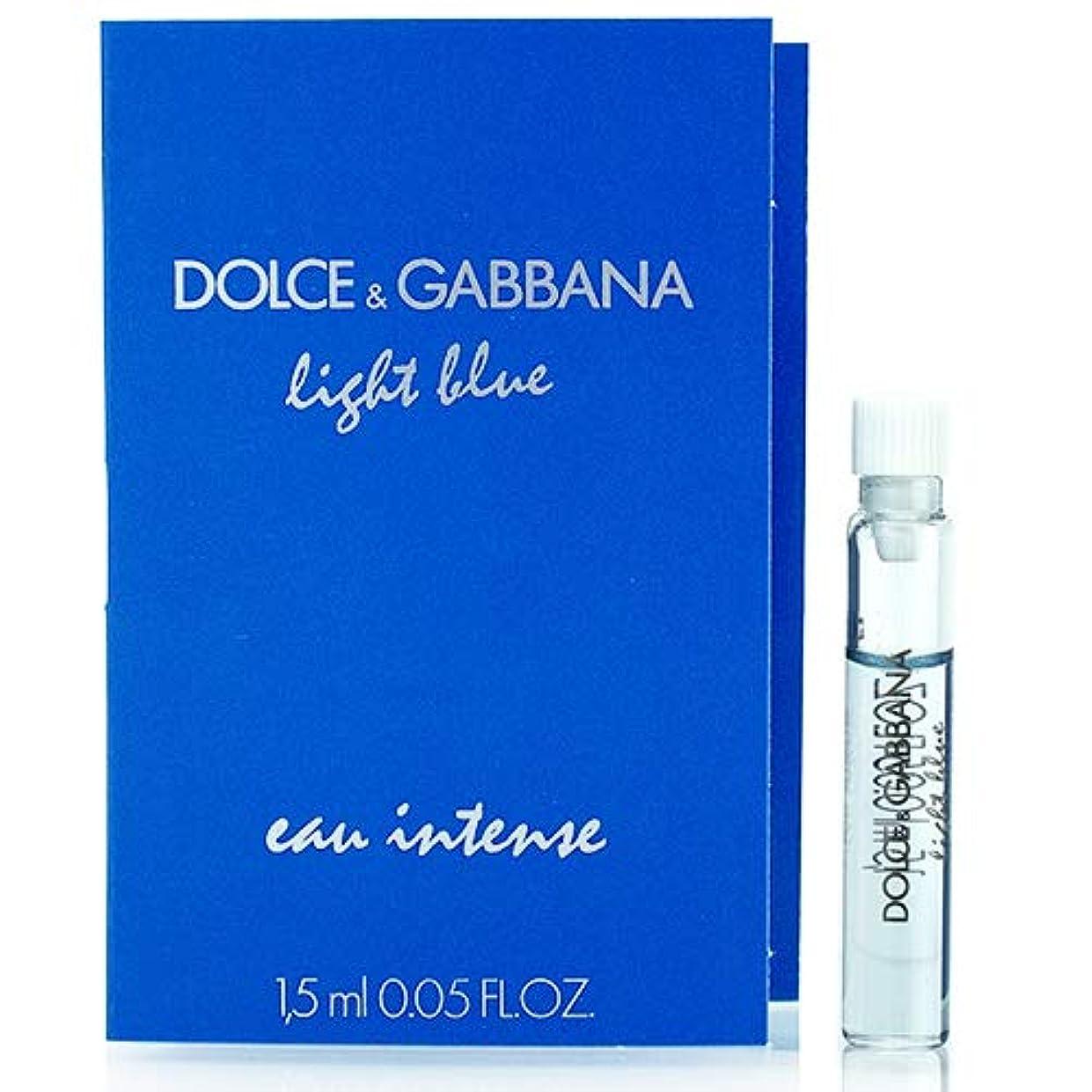保険吸う洗練ドルチェ&ガッバーナ D&G ライトブルー オーインテンス オードパルファム EDP スプレー 1.5ml ミニ香水 サンプル 香水 DOLCE GABBANA [並行輸入品]