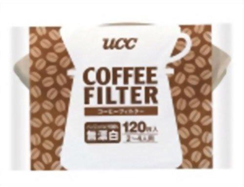UCC コーヒーフィルター 無漂白 2-4人用 120枚入