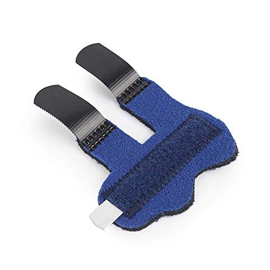 わずらわしい実施するしたがって指固定バンド、指スプリント腱断裂負傷固定バンド指サポートブレース,ブルー