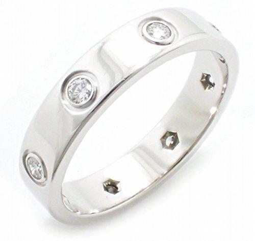 [カルティエ] Cartier ミニラブリング 指輪 11号 #51 ダイヤモンド K18WG 750WG ホワイトゴールド フルダイヤ B4050600 B4050651
