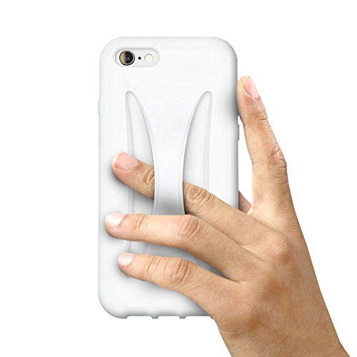 iPhone 8 / iPhone 7 シリコン ケース 落下防止 カバー アイフォン7 衝撃 吸収 保護 (iPhone8 / iPhone7, ホワイト)