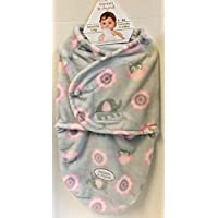Blankets & Beyond Swaddle Bag Pink & Grey Owls & Elephants (0-3 mos.) by Blankets and Beyond