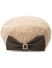 帽子 女性 秋冬 新製品 ファッション ベレット 暖かく保つ トレンド (Color : Apricot)