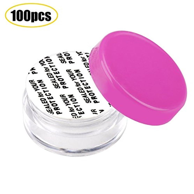 聴衆痛みスクワイアSumDirect 100個小分けケースと10枚オーガンジー袋セット、化粧品収納、詰め替え容器(ホットピンク)