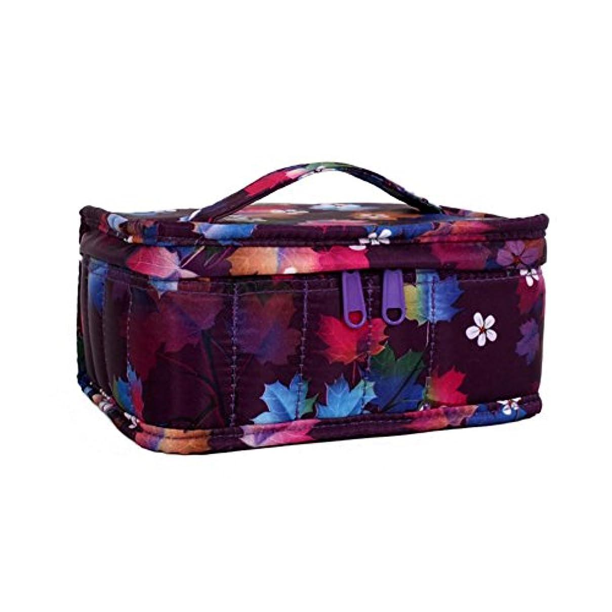 Farlong 色柄17コマオイルバッグ エッセンシャルオイル収納袋 香水収納袋 アロマオイル収納袋 保管袋 パッケージ携帯ケース用 大容量 4色