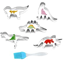 Cookie Cutters Set Stainless Bee Shapes for Kids Family Kitchen Baking Party Holiday Gatherings (Dinosaur)