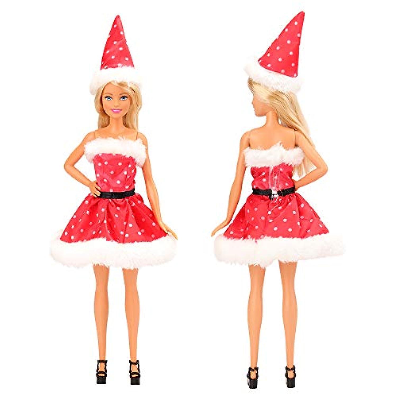 Barwa バービー人形服 りかちゃん服ドール ジェニー洋服 クリスマス プレゼント 聖誕限定 3枚せっと