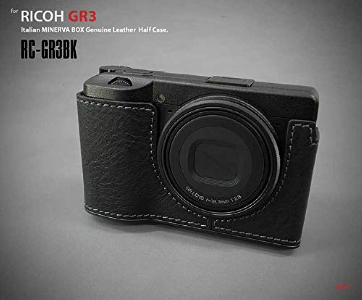 衣服懇願する荷物LIM'S RICOH GRIII用本革カメラケースRC-GR3BK ブラック【日本正規販売店/NINE SELECT】