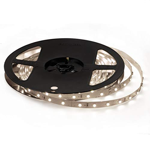 Signcomplex 12V 超高輝度 LEDテープライト 5M/300連 LED ストリップライト 正面発光 強力粘着両面テープ LEDチップSMD3528 LEDライト 広く 展示会、 舞台、家庭装飾用 ナチュラルホワイト非防水