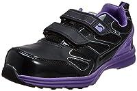 [シモン] プロスニーカー 短靴 マジック LS418 ブラック/バイオレット 26.5 cm 3E