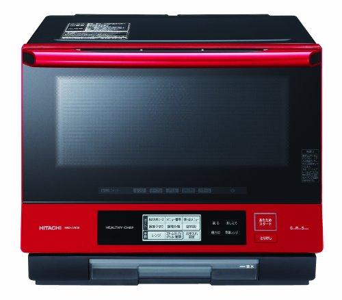 HITACHI ヘルシーシェフ 過熱水蒸気オーブンレンジ パールレッド MRO-JV300-R