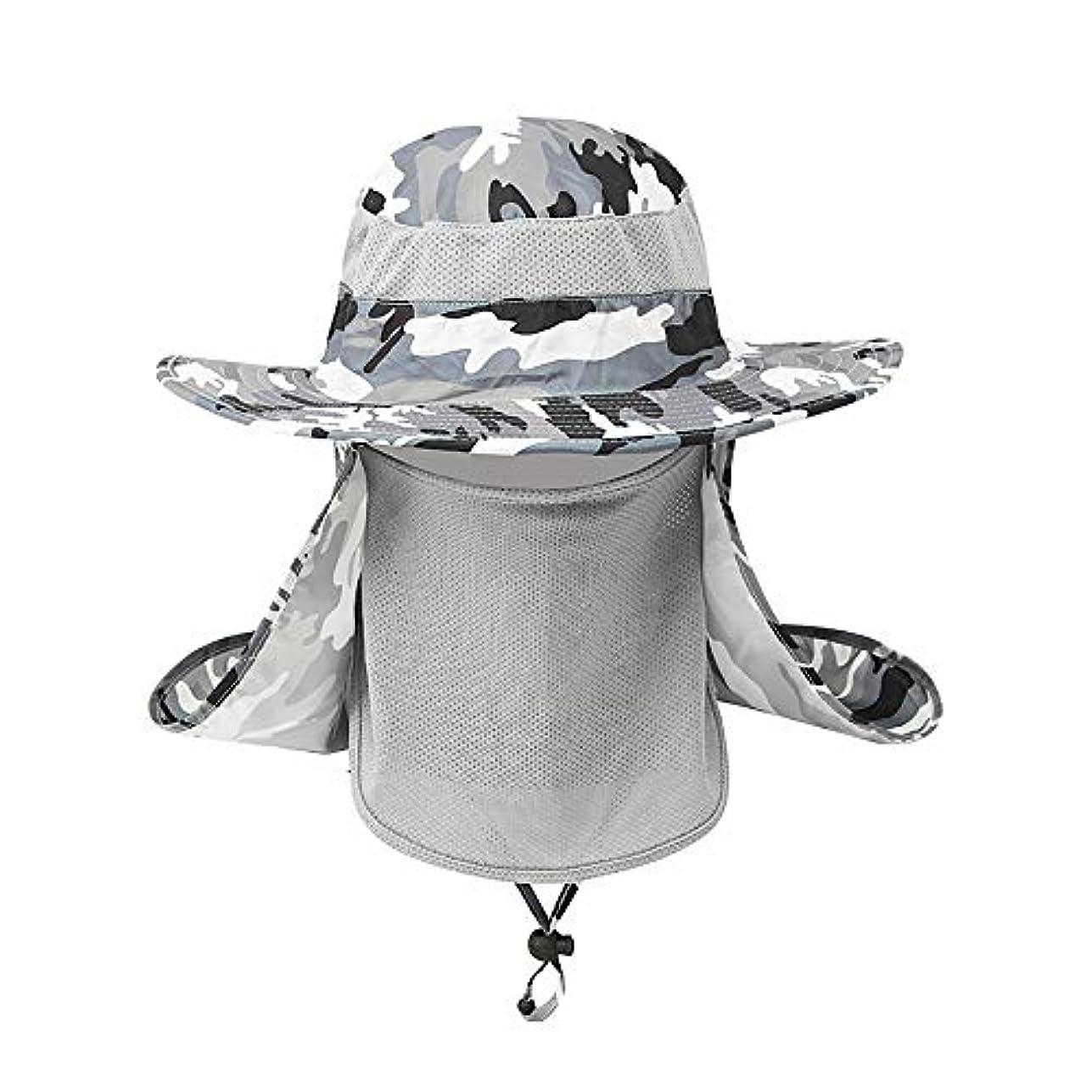 感覚レバー似ているEICKAWA釣り帽子日焼け止め帽子折りたたみ通気性帽子屋外用