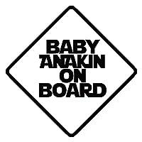 "Baby Anakin On Board 6""ビニールステッカー車デカール ブラック SP-00696-B"
