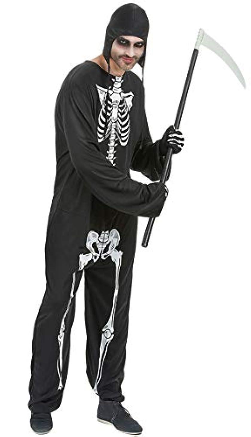 批判的逆挨拶する[Y-BOA] ハロウィン 仮装 メンズ 大人 スケルトン 死神 コスプレ コスチューム 衣装 男性用 骸骨 お化け 肝試し 恐怖 余興 学園祭 文化祭 パーティー XL