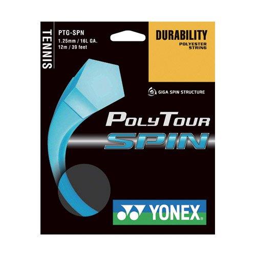 【12Mカット品】ヨネックス ポリツアースピン(1.20mm/1.25mm) 硬式テニス ポリエステル ガット(Yonex Poly Tour Spin )PTGSPN [並行輸入品]