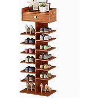 CSQ ソリッドウッドシューズラックマルチレイヤーシューキャビネットスモールセーブスペースリビングルームサイズ:115 * 24 * 40CM家庭用高容量シューズラック 靴 (色 : チェリーウッド, サイズ さいず : 155 * 24 * 40cm)