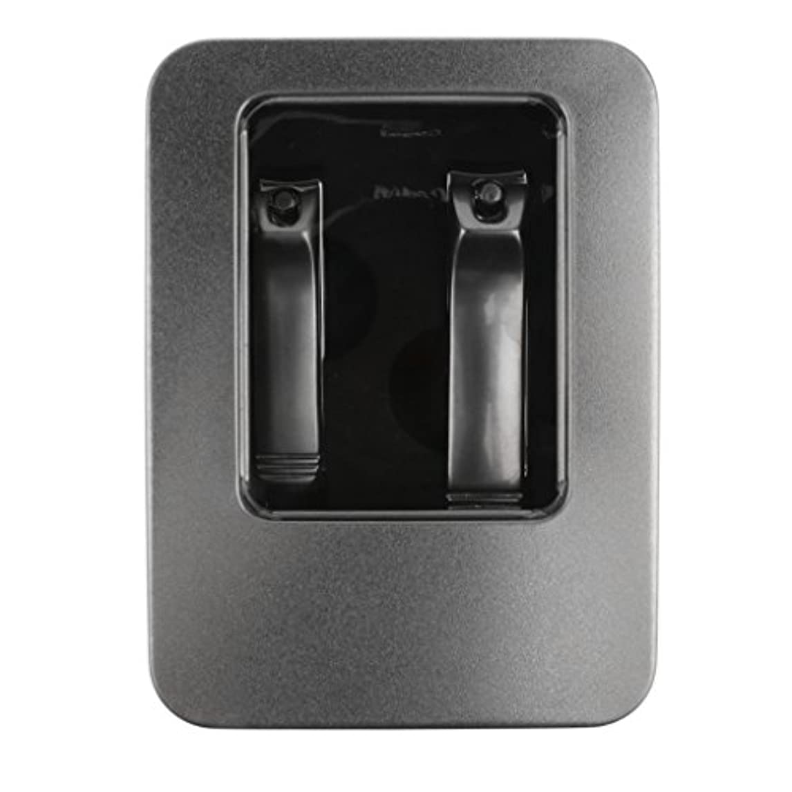 CUTICATE 安全2ピーススチールネイルカッターはさみ指の爪の爪切りツールツールセット