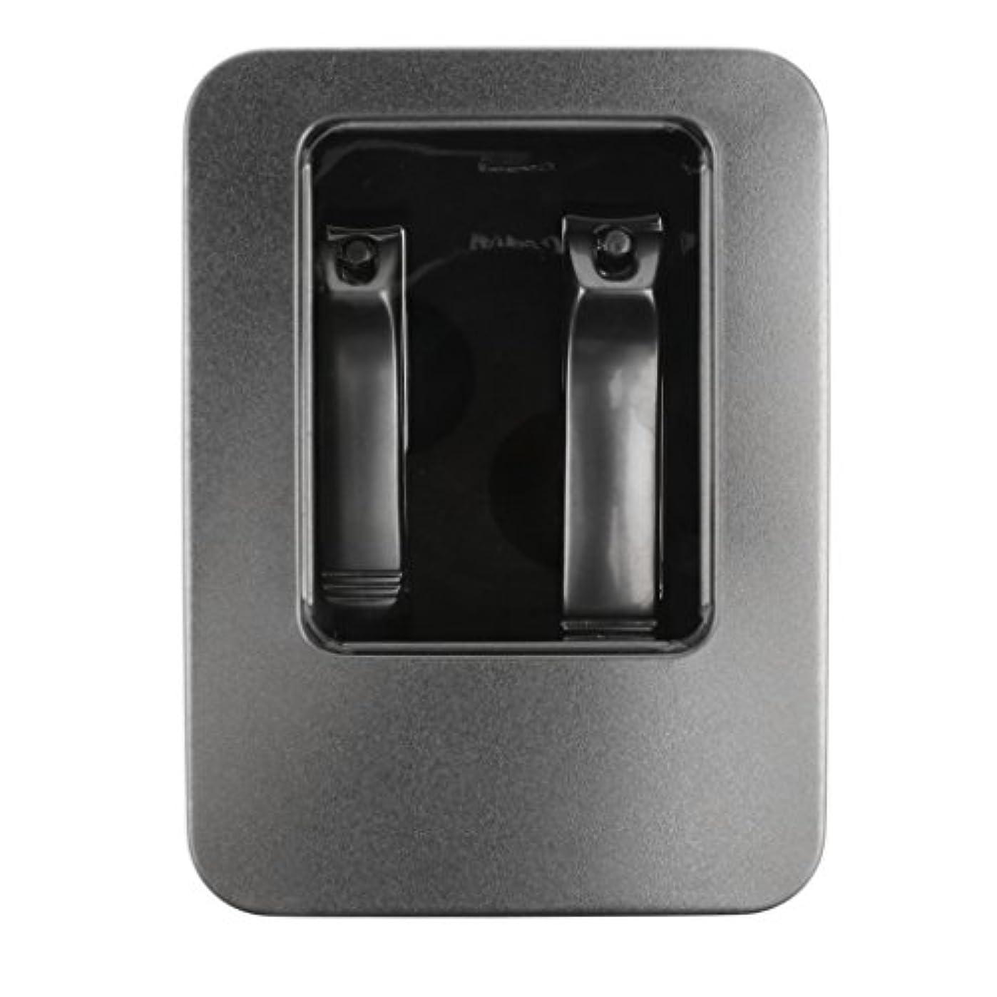 DYNWAVE 2本のステンレス鋼のネイルカッタートリマーマニキュアペディキュアケアはさみ+ボックス