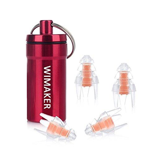 Wimaker高性能防水耳栓 2ペア クリスマスツリーの外形デ...