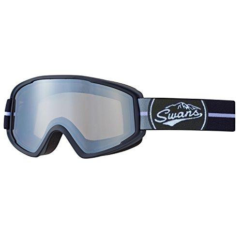 SWANS(スワンズ) スキー スノーボード ミラー ゴーグル くもり止め メガネ対応 大人用 男女兼用 100MDH BK