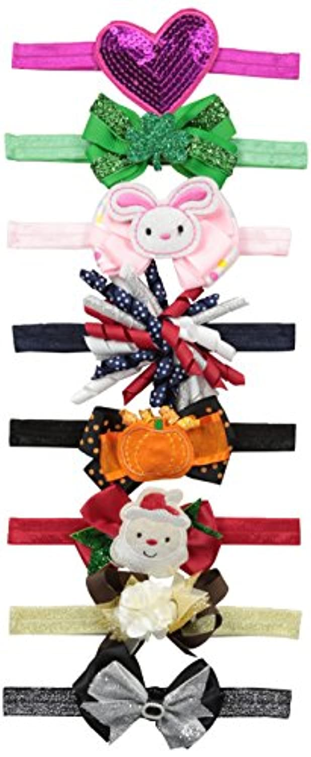 Little Cuties Little Girls 8 Holidays Headwraps、盛り合わせ、infant-toddler