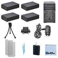 4LP - e10充電式電池F / Canon EOS 1100d Kiss x50Rebel t3、t5、デジタルカメラ、+車/ホーム充電器+ Complete Starterキット