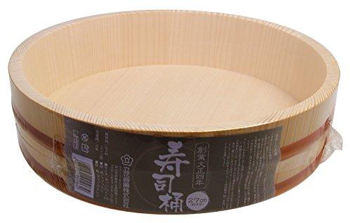 立花容器 寿司桶 SPシリーズ 27cm 約3合 (直径27×7cm) -