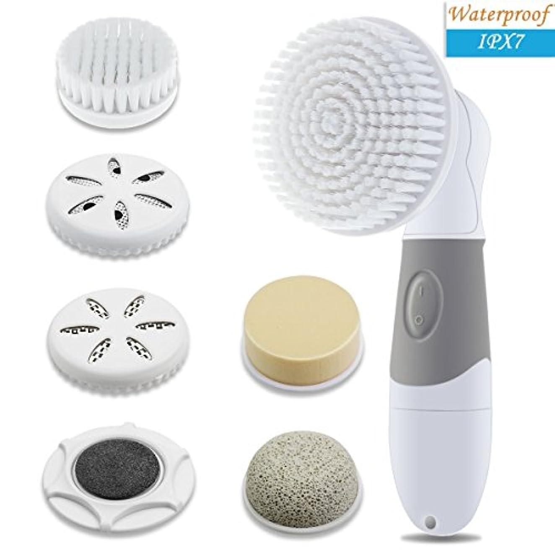 ビート定常賛美歌JideTech Face Brush 4-in-1 Facial Cleansing Brush Waterproof Spin Brush for Exfoliating and Massaging (並行輸入品)
