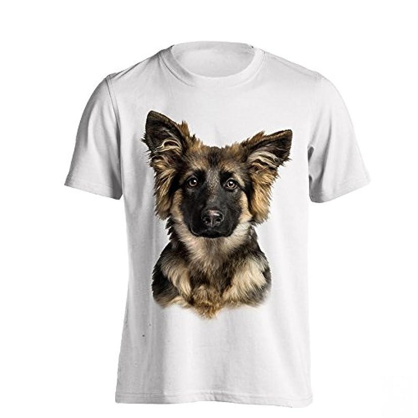 暴君代数的ヶ月目(ザ?ティーシャツ?ファクトリー) The T-Shirt Factory メンズ ジャーマン?シェパード?ドッグ 犬 プリント 半袖 Tシャツ