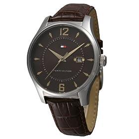 TOMMY HILFIGER (トミーヒルフィガー) 腕時計 1710166 HERITAGE 茶革 ブラウン メンズ
