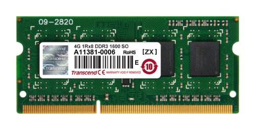 Transcend ノートPC用メモリ PC3-12800 DDR3 1600 4GB 1.5V 204pin SO-DIMM (無期限保証) JM1600KSH-4G