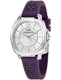 (コーチ) COACH コーチ 時計 レディース COACH 14502091 BOYFRIEND MINI ボーイフレンドミニ シグネチャー 腕時計 ウォッチ シルバー/パープル[並行輸入品]