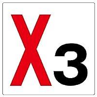 【346-031】通り芯表示板X3