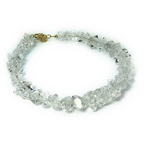 ブルーコーン ハーキマーダイヤモンド ブレスレット パワ-スト-ン 天然石 約16cm(女性Mサイズ)