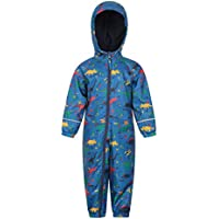 Mountain Warehouse Spright Printed Rain Suit - Breathable Winter Suit, Waterproof Coat, Quick Dry, Taped Seams Kids Raincoat, Fleece Lined, High Viz - for Travelling