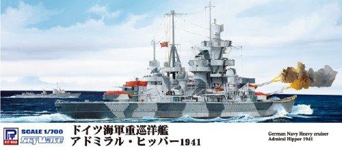 ピットロード▽1/700 独海軍 重巡洋艦 アドミラル ヒッパー 1941  W157