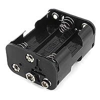 ダブルサイド春6 × 1.5 1.5v単三電池ホルダーケースボックス黒