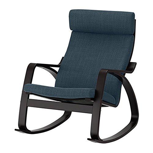 IKEA/イケア POANG:ロッキングチェア ブラックブラウン/ヒッラレド ダークブルー (292.010.55)