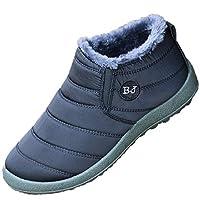 sunnymall スノーブーツ シューズ 靴 レディース メンズ ムートンブーツ 防水 冬 あったか カップル お揃い ショート アンクル 防寒 nvxie-025 (26.5cm(43), ブラック/メンズ)