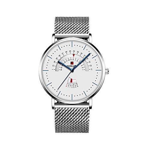 REWARD腕時計メンズ ビジネス時計 3ATM防水 ミランメッシュバンド 日本制ムーブメント日付カレンダー 曜日表示 ラグジュアリー おしゃれ カジュアル 男性腕時計