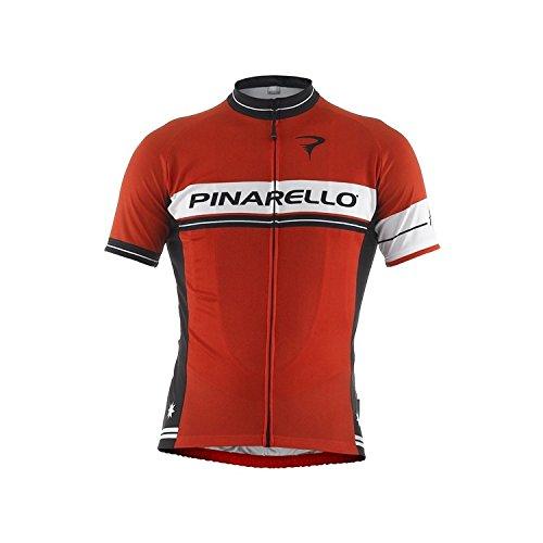 (PINARELLO/ピナレロ)(自転車用ウェア/男性用/メンズ)VERO RETRO STRIPE フルジップジャージ ピナレッド M