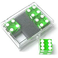 Dice 4-pack green Near-precision 19mm (casino) by Murphys Magic Supplies Inc. [並行輸入品]