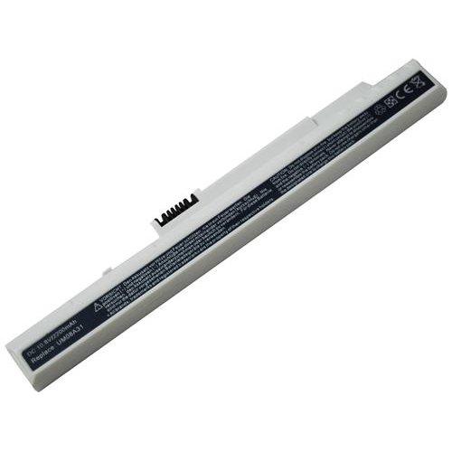 Acer um08a73、um08a71、um08a51、um08a31、LC。btp00.045、kav10、Aspire One d250–1bw 3セルLi - Ion 10.8V 2200mAh / 24whホワイト互換バッテリー