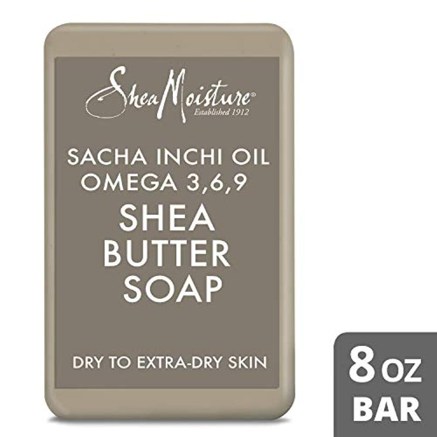 代表して気取らないリボンShea Moisture U-BB-2718 Sacha Inchi Oil Omega-3-6-9 Rescue Shea Butter Soap - Dry to Extra-Dry Skin for Unisex...