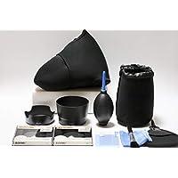 【PRO】Canon EOS 80D/ 70D/ 9000D/ 8000D/ KISS X9i/ KISS X8i/ KISS X7i ダブルズーム キット 用アクセサリー 11点セット(フード/液晶保護フィルム/保護フィルター/ブロアー/ケースなど)