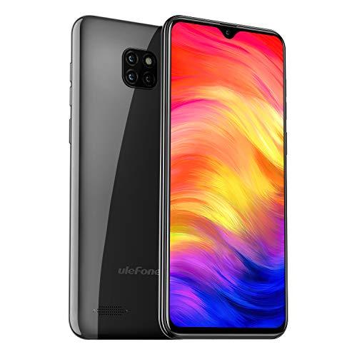 Ulefone Note 7 (2019新品 智能携帯/格安スマホ ) SIMフリー スマートフォン simフリースマホ 本体 android シムフリー スマホ Note 7 携帯電話 スマホ 本体 Android 9.0 アンロックスマホ ロック解除 グローバル 3G対応スマホ 8MP+2MP+2MPトリプルカメラ フロント5MP 2枚カッド 6.1インチ アスペクト比19.2:9 1GB RAM 16GB ROM 64GB 顔認証 3500mAhバッテリー 1年間保証付き 無料配送(ブラック/black/黒色)