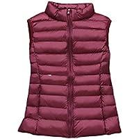MogogN Women's Stand up Collar Zipper Ultra-Light Thin Vest Coat