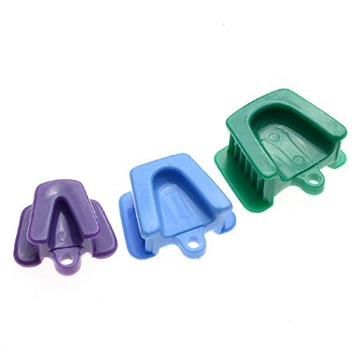 恩赦困難抵抗力があるROSENICE 歯科口口プロダクトブロッククッションオープナーリトラクタ小中大3個