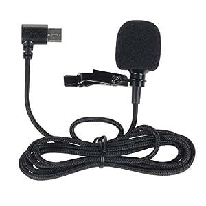 SJCAM 外部クリップ式 外部マイク1.4m Type-C USB SJ8 AIR/SJ8 PLUS/SJ8 PRO スポーツ カメラ アクションカム用